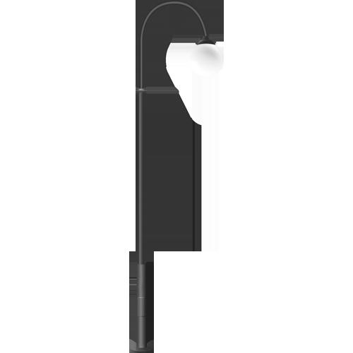 Стальной садово-парковый фонарь