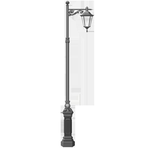 Столб фонарный уличный металлический 5 метров