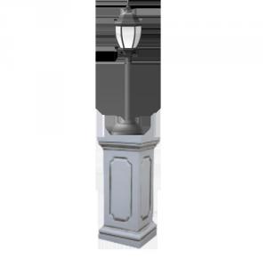 Купить чугунный наземный светильник